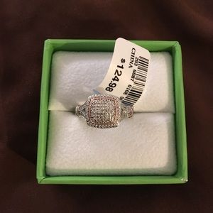 1/10 CTW Diamond, Silver w/Rose Gold Size 7 Ring